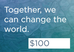 Together we can change the world: Donate 100 dollars